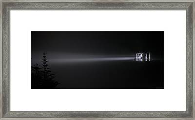 Into The Foggy Night Framed Print by Marty Saccone