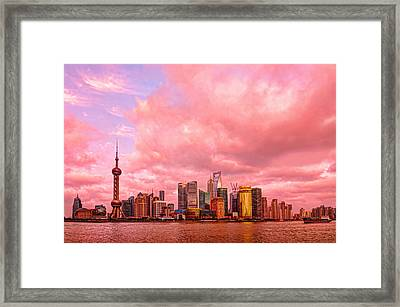 Into The Future Framed Print by Midori Chan