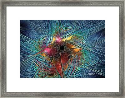 Into The Galaxy Framed Print by Deborah Benoit