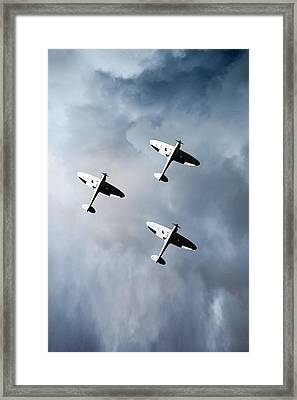 Into The Gathering Storm Framed Print by Gary Eason
