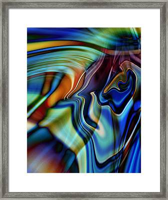 Into The Hummingbirds Brain Framed Print by Kyle Wood