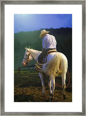 Into The Light Framed Print by Kenny Francis