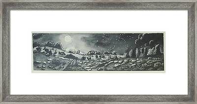 Into The Night Framed Print by Jeanne Ward