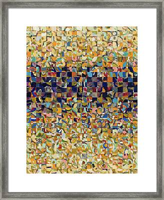 Into The Rubble We Walk Framed Print by Jennifer Lommers