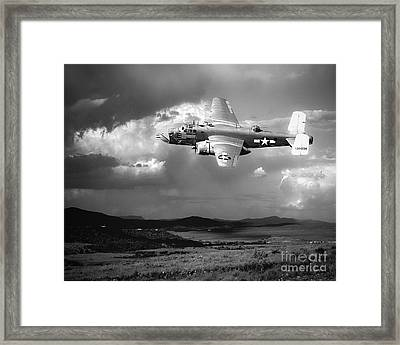 Into The Storm Framed Print by Arne Hansen