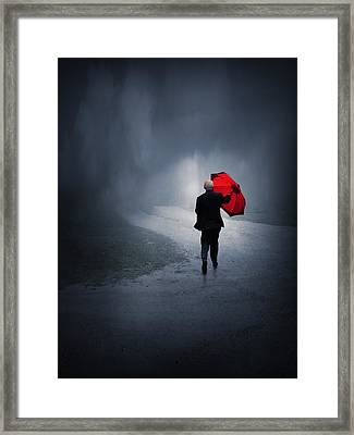 Into The Storm Framed Print by Jennifer Woodward
