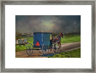 Into The Storm Framed Print by Kathy Jennings
