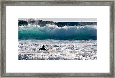 Into The Surf Framed Print by Rick Piper Photography