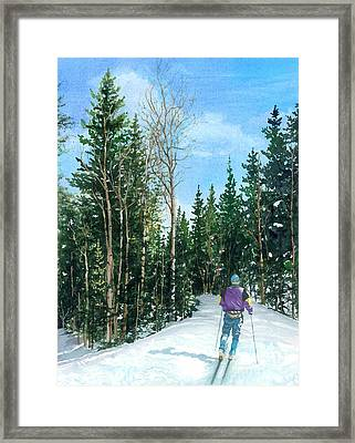 Into The Woods Framed Print by Barbara Jewell