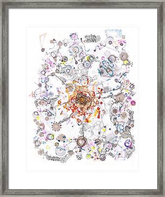 Intracellular Diversion Framed Print by Regina Valluzzi