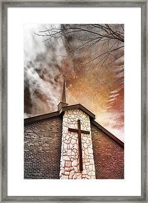 Intrepid Faith Framed Print by Bill Tiepelman