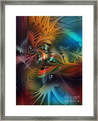Intricate Life Paths-abstract Art Framed Print by Karin Kuhlmann