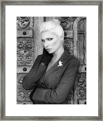 Intrigue Bw Fashion Framed Print by William Dey