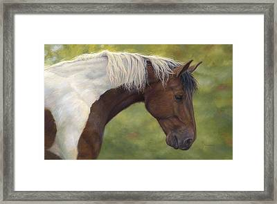 Intrigued Framed Print by Lucie Bilodeau