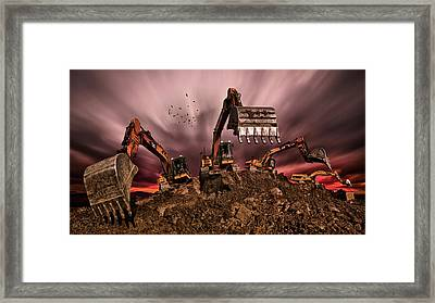 Invasion Framed Print by Peter Majkut