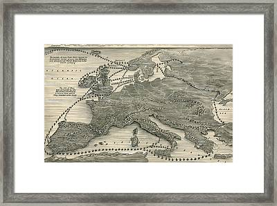 Invasions By The Norsemen Framed Print by Leslie Ashwell Wood