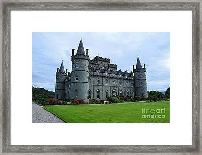 Inveraray Castle In Argyll Framed Print by DejaVu Designs