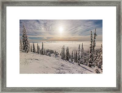 Inversion Sunset Framed Print by Aaron Aldrich
