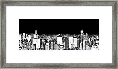 Inverted Central Park View Framed Print by Az Jackson