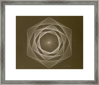 Inverted Energy Spiral Framed Print by Jason Padgett