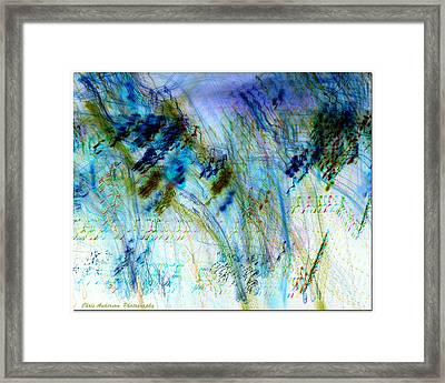 Inverted Light Abstraction Framed Print by Chris Anderson