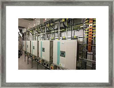 Inverters For The Solar Panels Framed Print by Ashley Cooper
