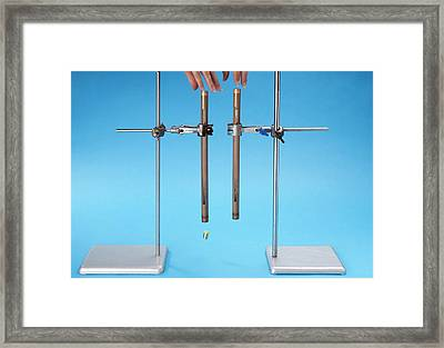 Investigating Lenz's Law Framed Print by Trevor Clifford Photography