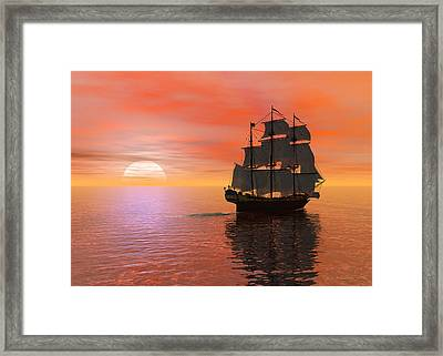 Invisible Breeze Framed Print by Sipo Liimatainen