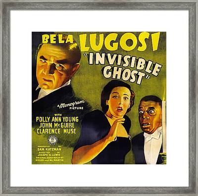 Invisible Ghost Framed Print by Monogram Pictures