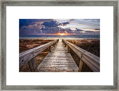 Invitation Framed Print by Debra and Dave Vanderlaan
