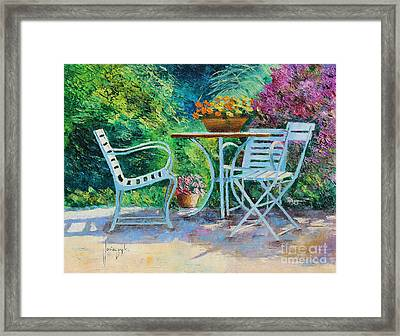 Invitation To The Garden Framed Print by Jean-Marc Janiaczyk