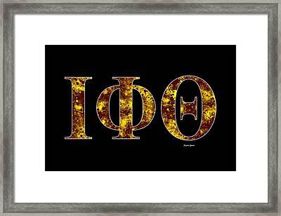 Iota Phi Theta - Black Framed Print by Stephen Younts
