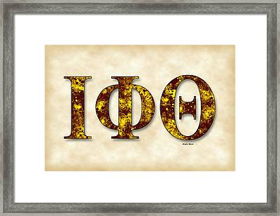 Iota Phi Theta - Parchment Framed Print by Stephen Younts