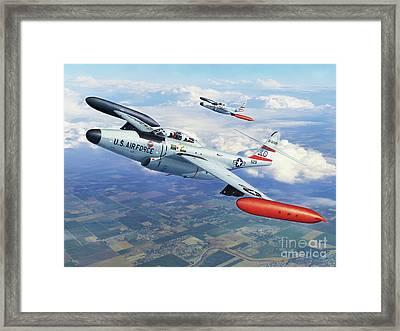 Iowa Ang F-89j Scorpion Framed Print by Stu Shepherd