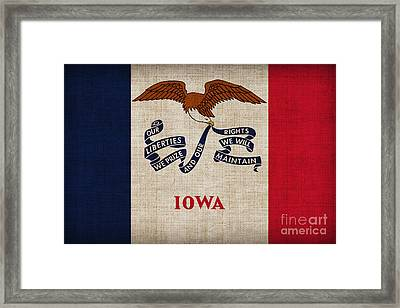 Iowa State Flag Framed Print by Pixel Chimp