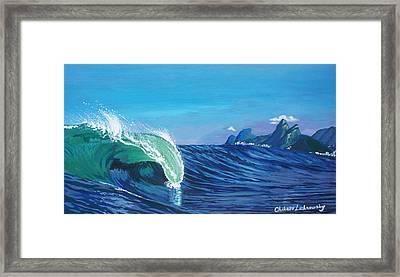 Ipanema Beach Framed Print by Chikako Hashimoto Lichnowsky