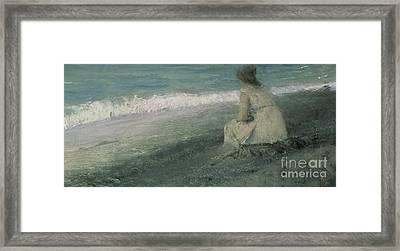 Iphigenia At Tauris Framed Print by Valentin A Serov