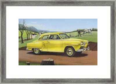 iPhone - Galaxy Case - 1950 Studebaker Champion antique americana Framed Print by Walt Curlee