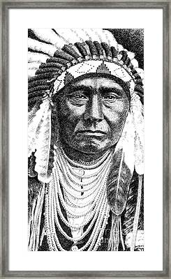 iPhone-Case-Chief-Joseph Framed Print by Gordon Punt
