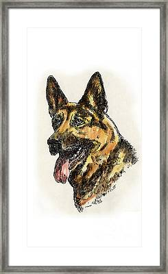 iPhone-Case-Dog-GermanShep. Framed Print by Gordon Punt