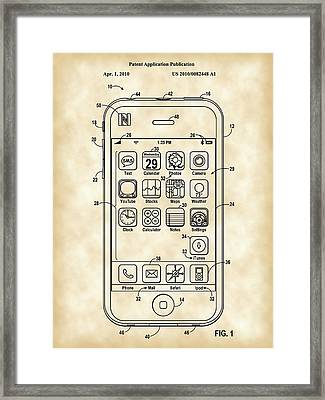 iPhone Patent - Vintage Framed Print by Stephen Younts