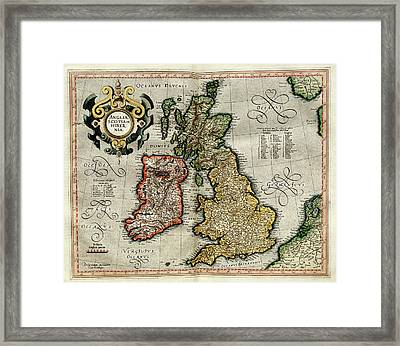 Ireland And Britain Framed Print by Library Of Congress, Geography And Map Division