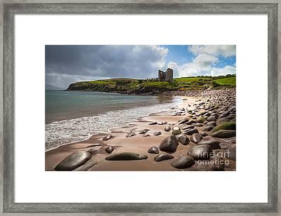 Ireland - Castle Minard Framed Print by Juergen Klust