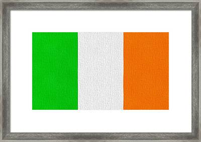 Ireland Flag Framed Print by Dan Sproul