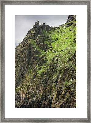 Ireland Skellig Michael Island Europe's Framed Print by Tom Norring