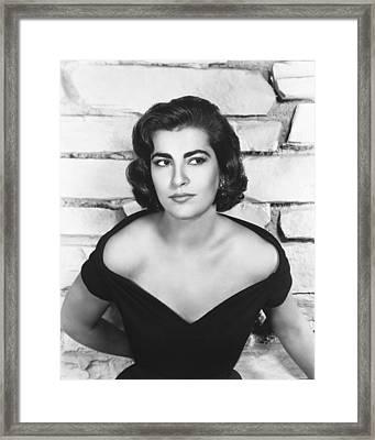 Irene Papas Framed Print by Silver Screen