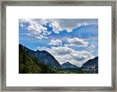 Iridescent Clouds Above Ouray Colorado Framed Print by Janice Rae Pariza