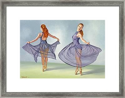 Irina Dancing In Sheer Skirt Framed Print by Paul Krapf