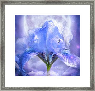 Iris - Goddess In The Moonlite Framed Print by Carol Cavalaris