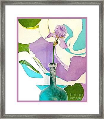 Iris Identity Framed Print by Marsha Heiken